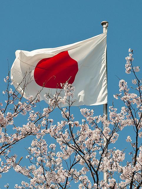 Resultado de imagem para bandeira japonesa tremulando
