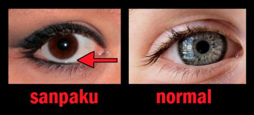 Resultado de imagem para sanpaku