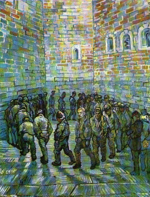Resultado de imagem para A Ronda dos Prisioneiros van Gogh