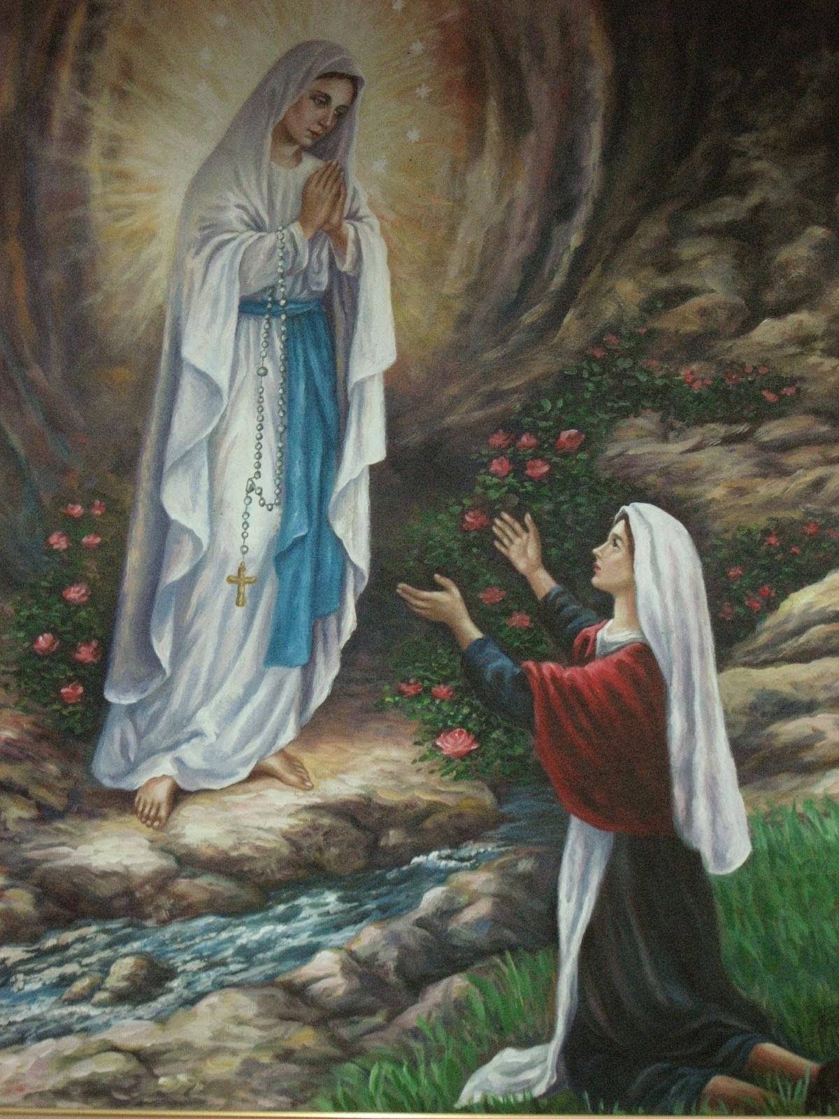 Resultado de imagem para Bernadet que viu Nossa Senhora